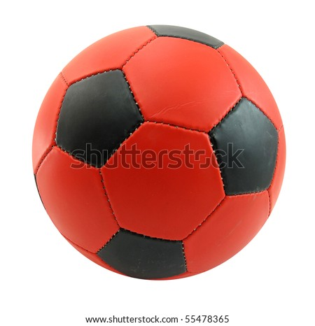 Ball football soccer red and black
