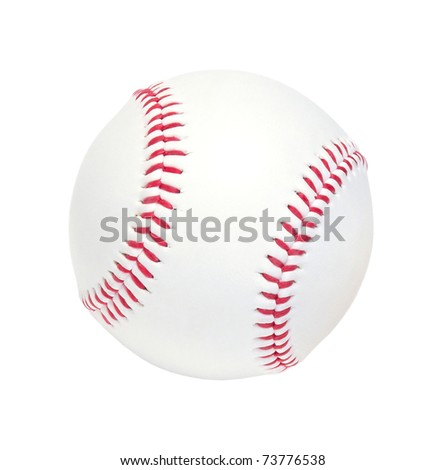 ball for a baseball game isolated on a white background