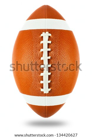 Ball for american football isolated on white