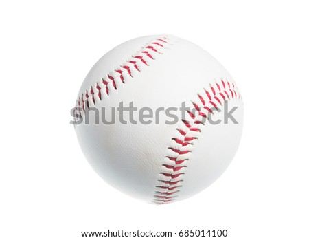Ball for baseball isolated on white background