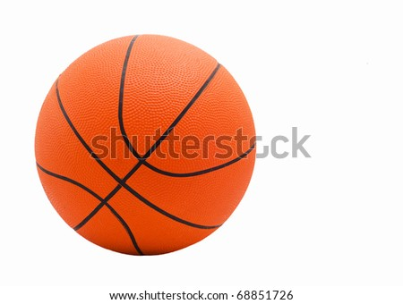 Ball for game in basketball of orange  isolated on white background