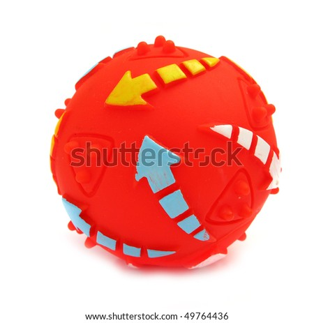 Ball for pets with colorful arrows