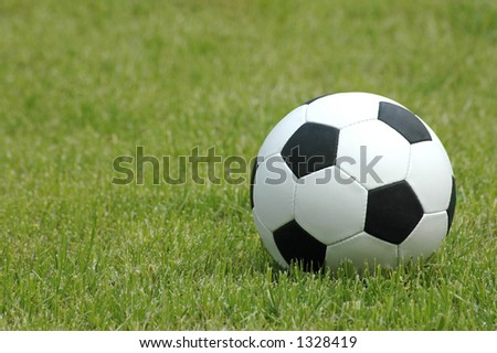 Ball for soccer on field