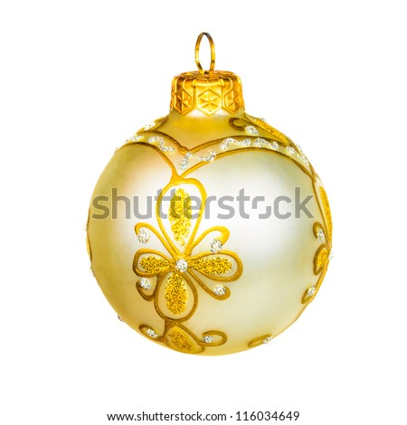 Ball for the Christmas tree. The photo on the white background - stock photo