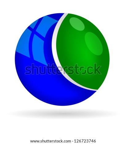 ball green blue