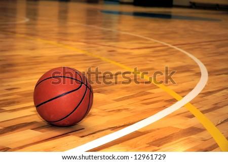 Ball in school sport hall