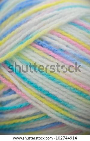 Ball of colored yarn