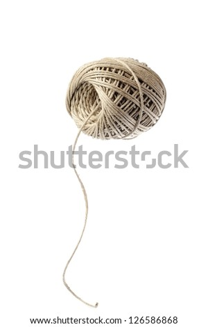 Ball of thick string