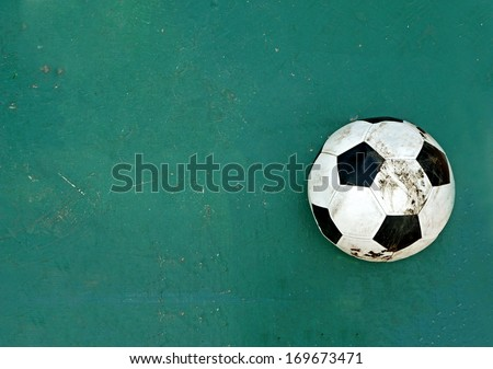 ball on green rubber floor