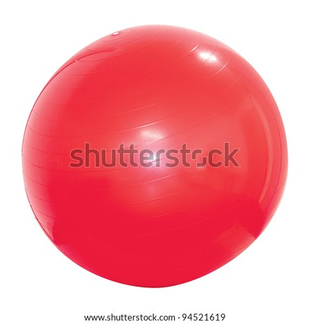 Ball Pilates Red - stock photo