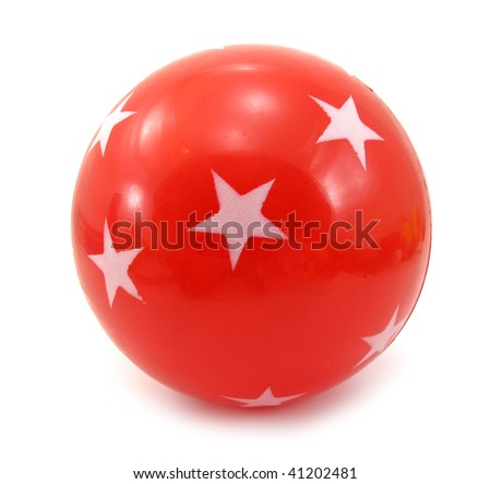 Ball red with stars