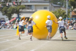 ball rolling in sports day