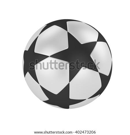 ball soccer league.3D Illustration
