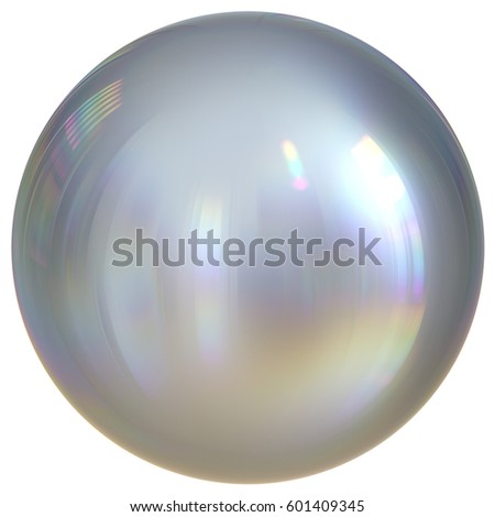 Ball sphere silver white round button chrome basic circle geometric shape solid figure simple atom element single mercury drop shiny glossy sparkling object blank balloon. 3d illustration isolated