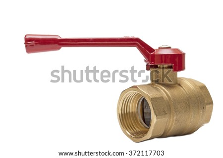 Ball valve front view,ball valve,stop valve,throughput,bronze faucet,white background,isolated object