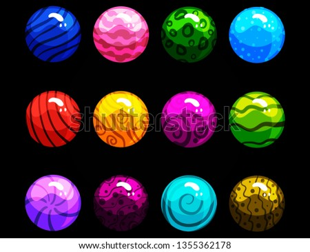 Ball with various designs and various colors