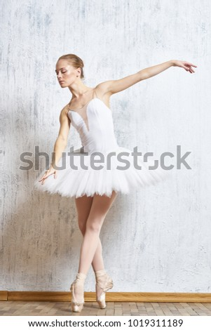 ballerina in a pack dancing swan lake                                #1019311189
