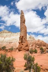 Ballerina Spire, a sand pipe rock formation in Kodachrome Basin State Park, Utah, USA