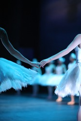 Ballerinas on the stage, Swan Lake ballet