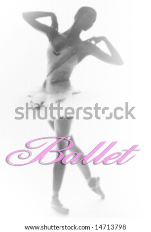 Black And White Ballet Photography. stock photo : Ballet: A lack