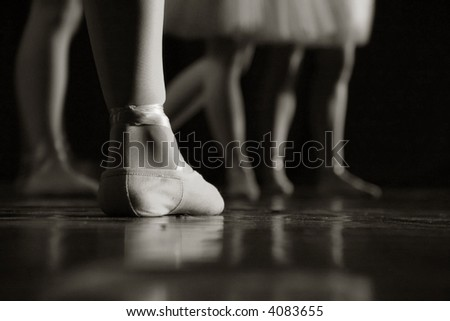 Ballet dancers on the stage - stock photo