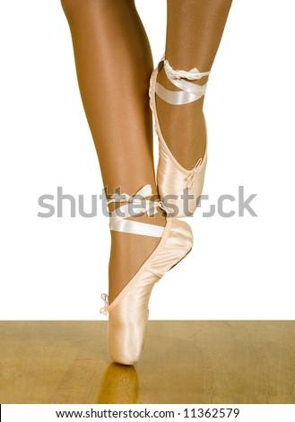 stock photo :Ballet workout:cou-de-pied sur le turn ; close up