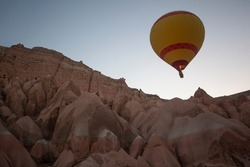 Balloon flying is famous for the city of Cappadocia in Turkey.