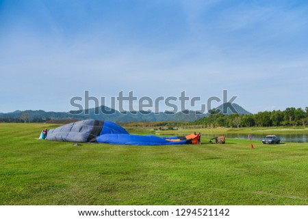 Balloon on The Hill at Singha Park (Boon Rawd Farm), Chiang Rai, Thailand #1294521142