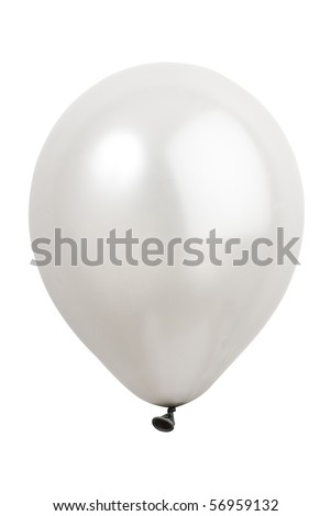 balloon on white background