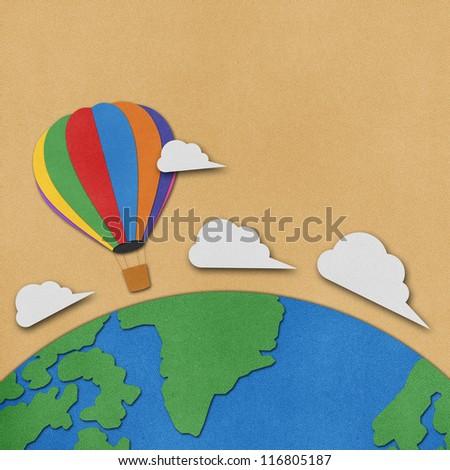 Balloon recycled papercraft.Data source: NASA