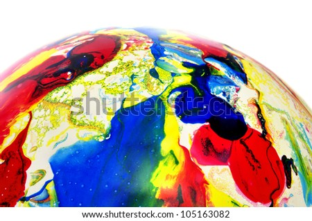 balloon splashed of different colors on a white background #105163082