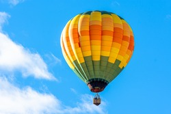 Balloon with blue sky background launch at festival in North Carolina,USA.