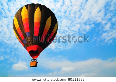 balloon with blue sky in Thailand.