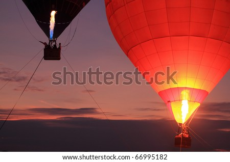 balloon with sunset
