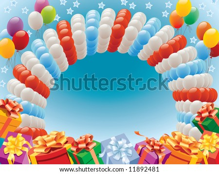 Balloons decoration ready for birthday and party