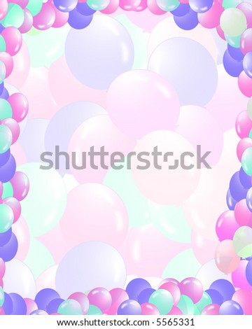 Balloons filling the background