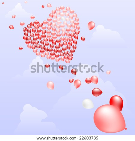 Balloons for a heart