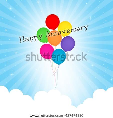 Balloons - Happy Anniversary