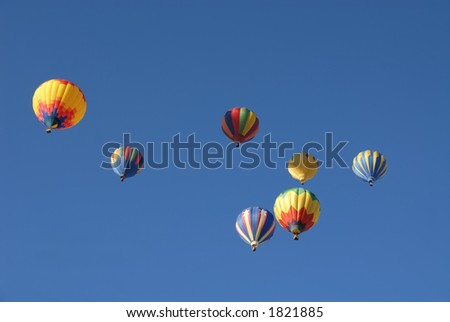 Balloons in flight, Reno, Nevada