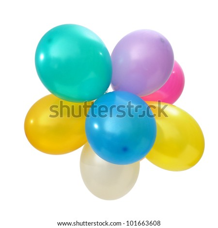 balloons isolated on a white background