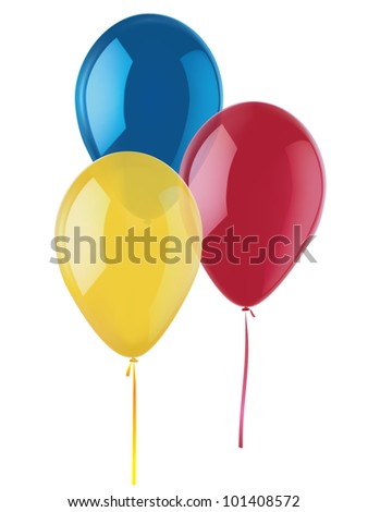 Balloons isolated on white.