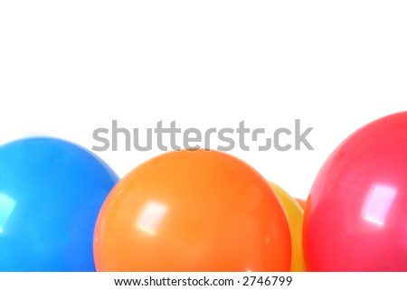 Balloons, isolated on white.