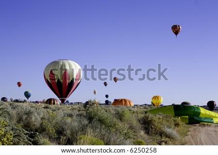 Balloons landing in Rio Rancho, NM