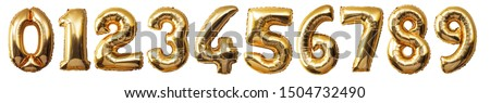 Photo of  Balloons Numbers Isolated on white background