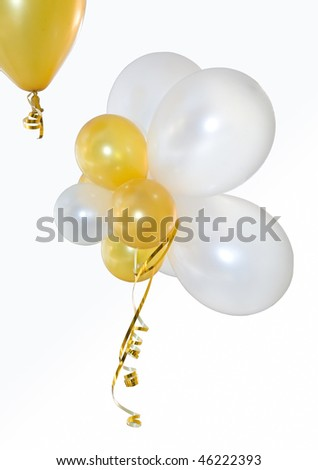 Balloons on a white background. Are isolated