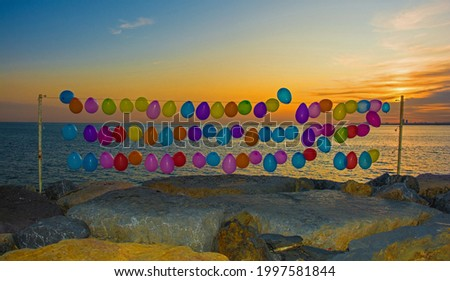 Balloons on the waterfront in the Moda district of Kadikoy on Istanbul's Asian shore Foto d'archivio ©