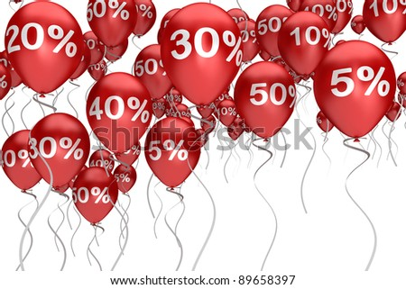 balloons sale red color with a different interest