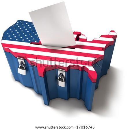 Ballot box - American election