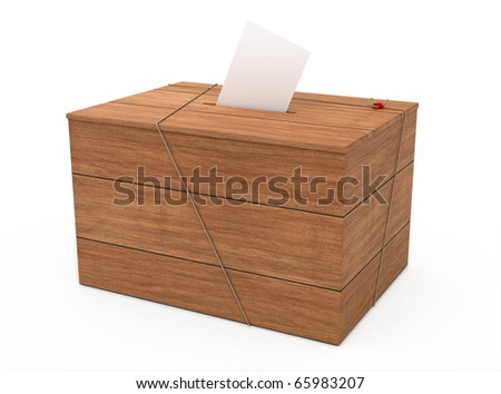 ballot box (clipping path)