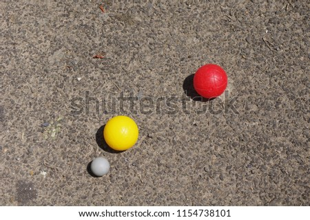 Balls of petanque and jack #1154738101